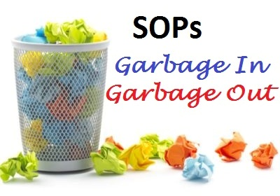 Bad Standard Operating Procedures SOPs Bad Training Garbage In Garbage Out Michael Esposito Compliance Trainings